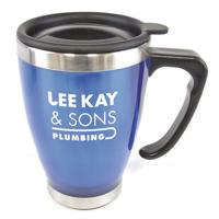Durer 400Ml Narrow Tea Cup Shaped Double Walled Travel Mug