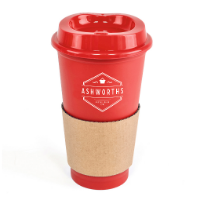 Cafe 500Ml Plastic Single Walled Take Out Style Coffee Mug