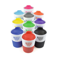 Rubber Base Plastic Take Out Mug