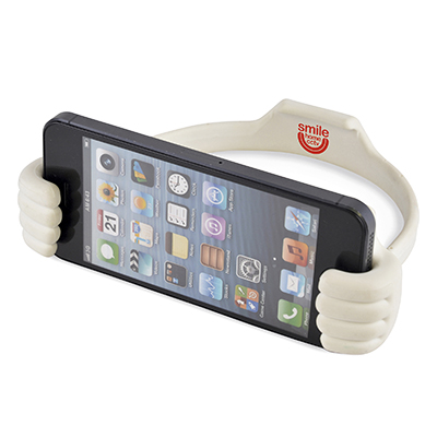 Thumbs Up White Smartphone And Tablet Holder