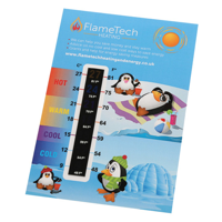 125Mmx85Mm Thermometer Gauge Card