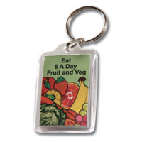 Acrylic Rectangle Keyring