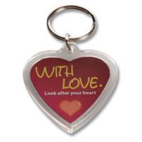 Acrylic Heart Keyring