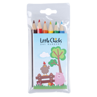 6 Pack Of Colouring Pencils
