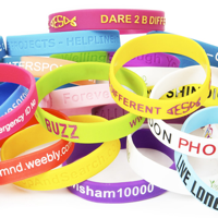 Pantone Matched Silicone Wristbands