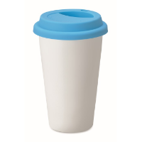 Double wall ceramic travel cup