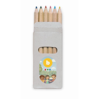 6 coloured pencils in box