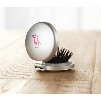 Foldable brush/mirror
