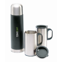 Insulation flask with 2 mugs