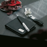 Ball pen key ring and wallet