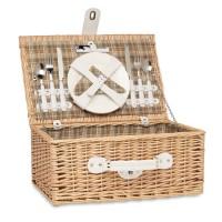 Wicker picnic basket 2 people