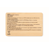 RFID card in bamboo material