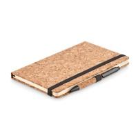 A5 cork notebook and pen set