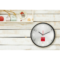 Wall clock w silver background
