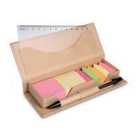 Desk set in brown paper box
