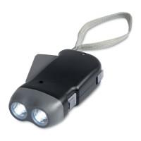 2 LED dynamo torch