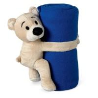 Fleece blanket with bear