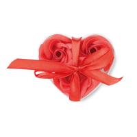 Soap Flower In Heart Shape