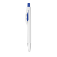 Push button pen with white bar