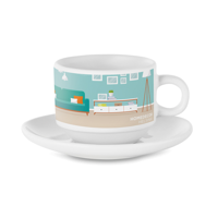 Sublimation Cup And Saucer