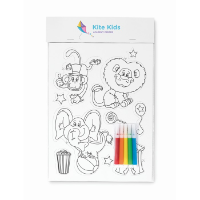 Colouring magnetic stickers