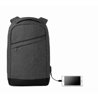 2 tone backpack incl USB plug