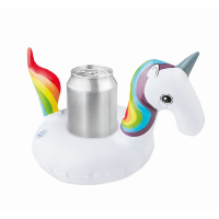Inflatable can holder unicorn