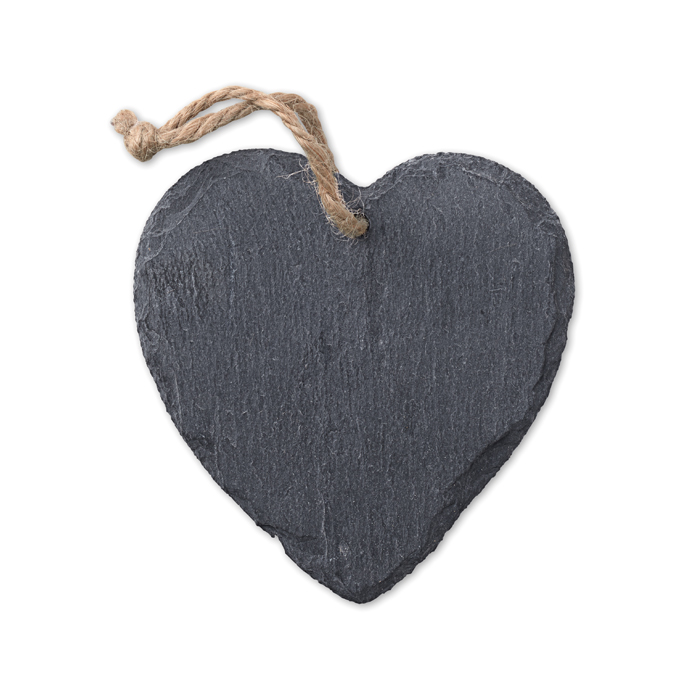 Slate hanger heart