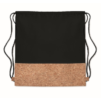 Drawstring bag w/ cork details