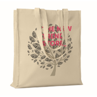 Cotton shopping bag w/ gussets
