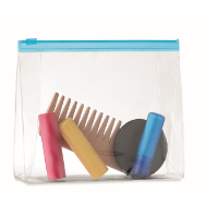Cosmetic pouch with zipper