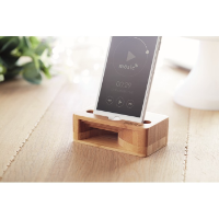 Bamboo phone stand-amplifier