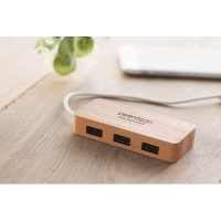 Bamboo USB 3 ports hub