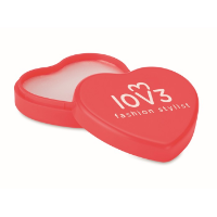 Lip balm in heart shaped case