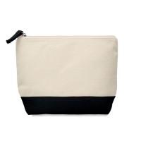 Bicolour cotton cosmetic bag