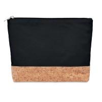 Cork & cotton cosmetic bag