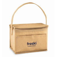 6 can woven paper cooler bag