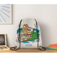 Non woven kids bag with pens
