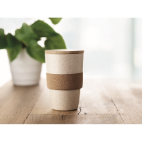 Tumbler in PLA and wheat straw
