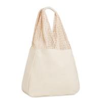 Beach bag cotton/mesh