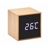 LED alarm clock bamboo casing