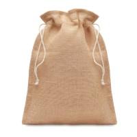 Small jute gift bag 14 x 22 cm