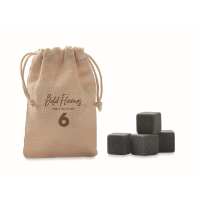 4 stone ice cubes in pouch
