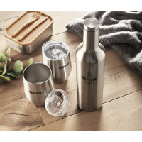 Double walled bottle & mug set