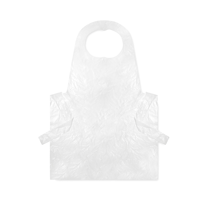 100 disposable aprons in bag
