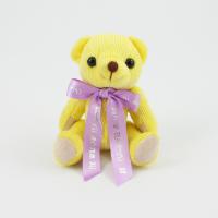 12.5cm Lemon Candy bear Bow