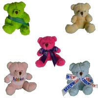 10cm Mini Coloured Bear Bow