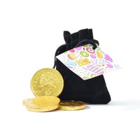 Velvet Pouch - Chocolate Coins