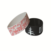 1 Inch Embossed Silicon Wristbands