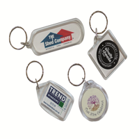 Acrylic Keyrings with Insert